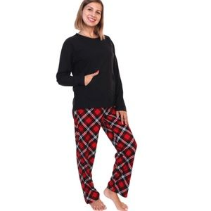 Angelina Kangaroo Pocket Flannel Pajama Set 2XL
